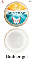 Моделирующий 3-фазный прозрачный гель F.O.X Builder Clear gel UV (15 мл)