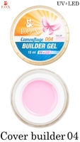 Камуфлирующий гель F.O.X Cover (camouflage) builder gel UV+LED 004 ( 15 мл)