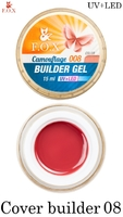 Камуфлирующий гель F.O.X Cover (camouflage) builder gel UV+LED 008 ( 15 мл)