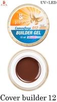 Камуфлирующий гель F.O.X Cover (camouflage) builder gel UV+LED 012 ( 15 мл)