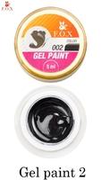 Гель-краска F.O.X Gel paint 002 (5 мл).