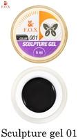 Гель-пластилин F.O.X Sculpture gel 001 (5 мл.)